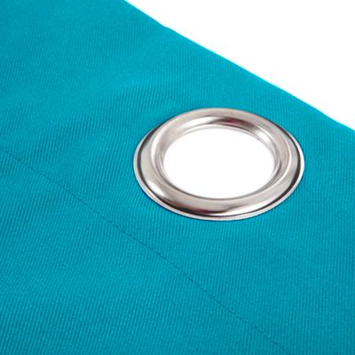 Gardenista Turquoise Single Outdoor Curtain with Eyelet Panel 55