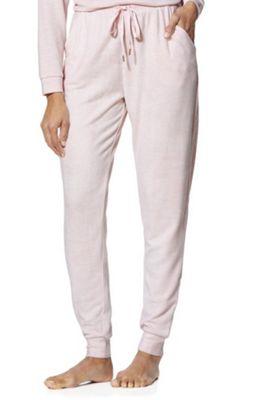 F&F Fleece Knit Lounge Joggers 12-14 Pink