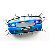 3D Light FX Blue Classic Car Night/Safety Wall Light