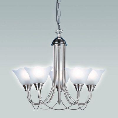 Endon Lighting Five Chandelier in Satin Chrome