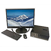"Dell Refurbished PC - i7, 8Gb, 128GB SSD, 21"" Monitor, Keyboard, Mouse, Speakers and Wifi"