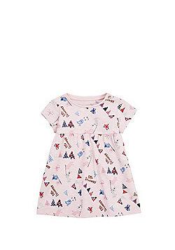 F&F Little Princess Slogan Smock Dress - Pink
