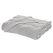 Bianca Cotton Soft Knit Throw - Grey