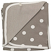 Pigeon Organics Reversible Blanket, Spotty (Taupe)