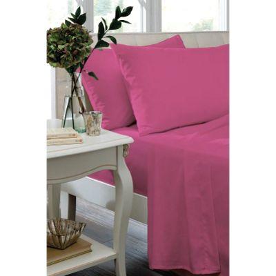 Catherine Lansfield Hot Pink Flat Sheet - King