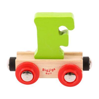 Bigjigs Rail Rail Name Letter F (Green)