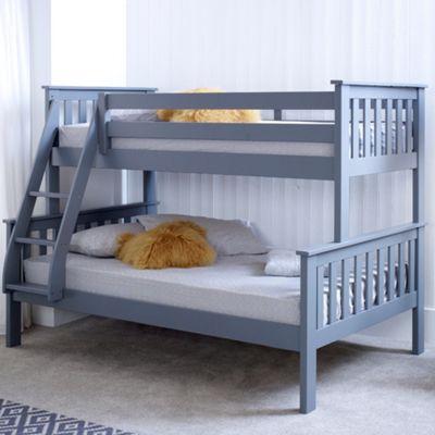 Buy Happy Beds Atlantis Wood Kids Triple Sleeper Bunk Bed With 2