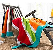 Bright Stripes Beach Towel - 100% Egyptian Cotton