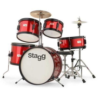 Stagg TIM J 5 Piece Junior Drum Kit - Red