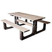 BrackenStyle Medium Rectangular Picnic Table - Grey