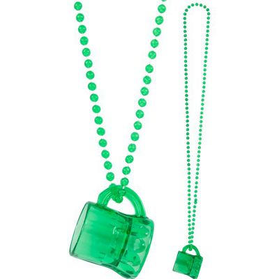 St Patricks Day Mini Beer Mug Necklace