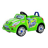Homcom Kids Electric Ride On 6V Battery Operated Toy Car w/ Seat Belt Green
