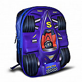 Non Branded Race Blue 3D Backpack