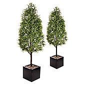 Artificial 5ft Tea Tree Pyramid Topiary x 2
