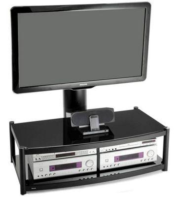 Atacama Cantilever 2 Shelf TV Stand - Black