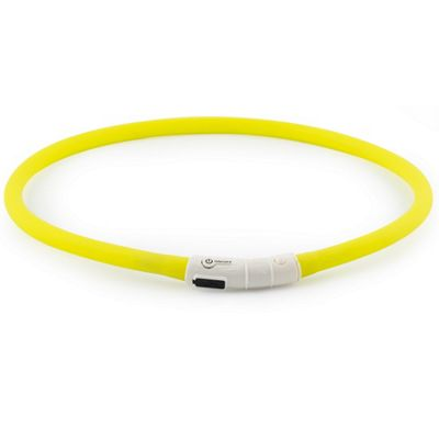 Ancol Rechargeable High Visibility Flashing Dog Band - Yellow
