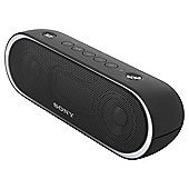 SON-SRSXB20B Portable Wireless Bluetooth Speaker with NFC Pairing in Black