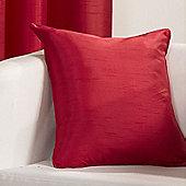 Hamilton Mcbride Faux Silk Cushion Cover Red - 43x43cm