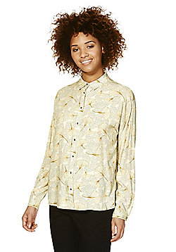 Vila Shell Print Shirt - Cream