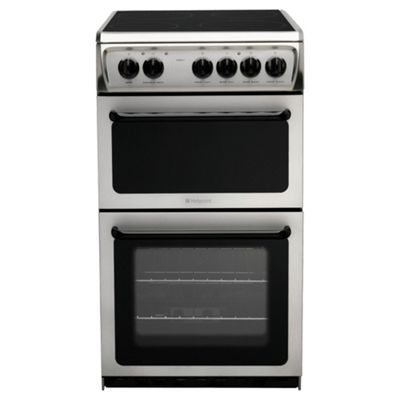 Hotpoint HAE51XS twin cavity cooker, stainless steel