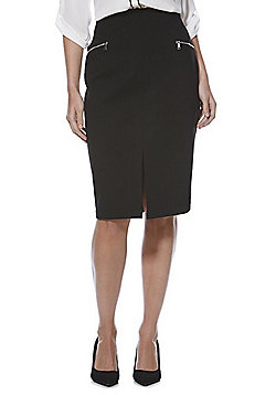 F&F Ponte Pencil Skirt with As New Technology - Black