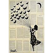 Loui Jover Butterflying Poster