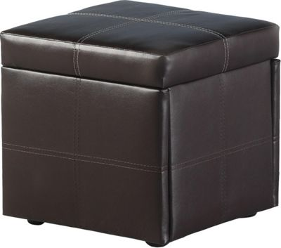 Home Essence Northcote Storage Stool in Expresso Brown PVC