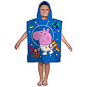 Peppa Pig George Planets Hooded Towel Poncho