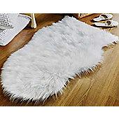 Faux Fur Sheepskin Rug, Ivory - 60 x 90 cm