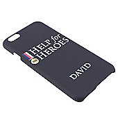 Help for Heroes Personalised Black iPhone 6 Cover