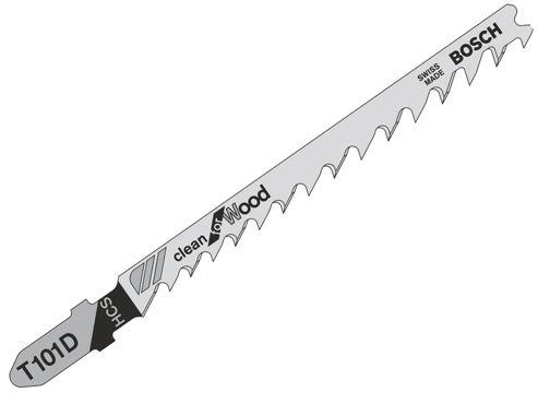 Bosch T101D Jigsaw Blade 1 x Pack of 5 Wood