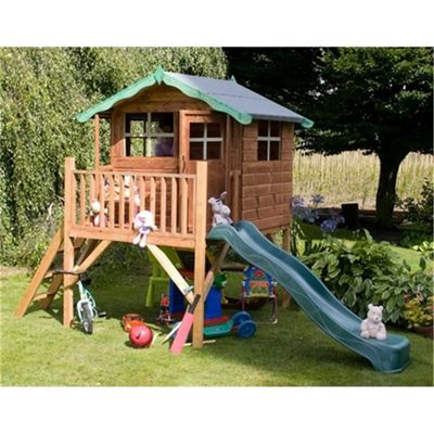 5 x 7 Sutton Tower Playhouse and Slide (5ft X 7ft)