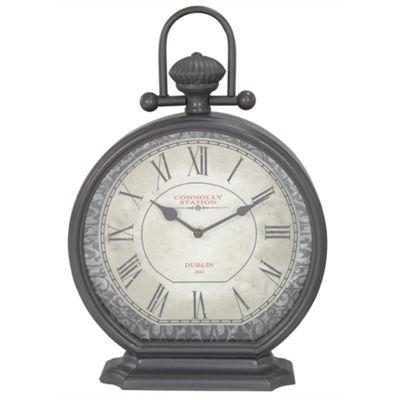 Vintage Mantle Clock - Dark Grey