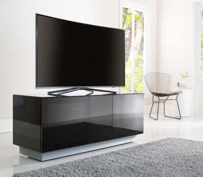 Alphason Element EMT1250XL-BLK Black TV Stand for up to 60 inch TVs