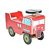 Kiddimoto Wooden Fire Engine Ride On