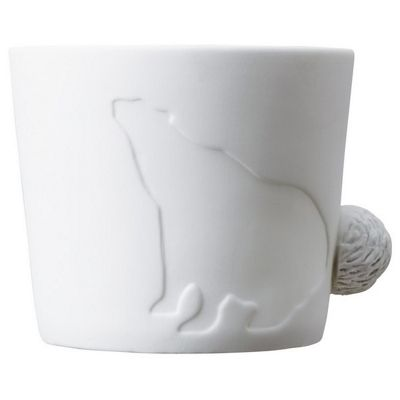 Kinto Mugtail Porcelain Drinking Mug & TeaLight Candle Holder Bear Design