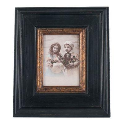 Black & Gold Wood Oblong Photo Frame Large