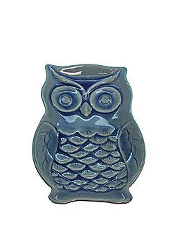 Blue Ceramic Owl Dish