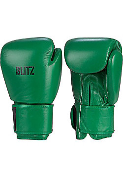Blitz - Standard Leather Boxing Gloves - Green