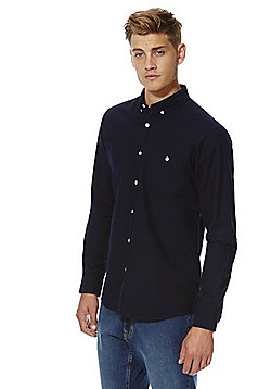 F&F Long Sleeve Oxford Shirt - Navy