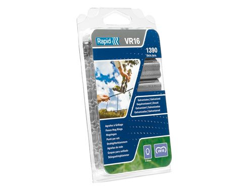 Rapid VR16 Fence Hog Rings Pack 1390 Green