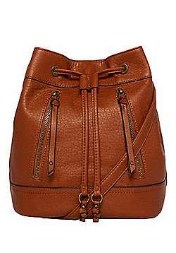 F&F Washed Faux Leather Bucket Bag
