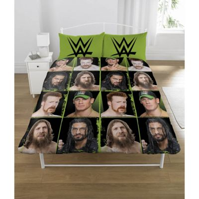 WWE 'Superstars' Rotary Double Bed Duvet Quilt Cover Set