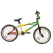 "Zombie Rasta BMX Bike 20"" Wheel Green/Red/Yellow"