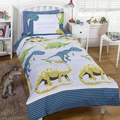 Dinosaur Facts, Blue Toddler Bedding BUNDLE, 4.5 tog