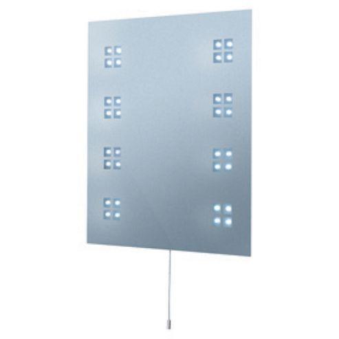 Searchlight illuminated LED rectangular bathroom mirror