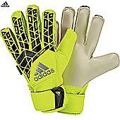 Adidas Ace Fingersave Junior Goalkeeper Gloves - Yellow