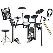 Roland TD-11K V-Drums Electronic Drum Kit Package With Stool, Sticks, Bass Drum Pedal, Headphones And FREE Backbone Drums Tutorial Book And C.D