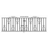Wrought Iron Style Metal Scroll Driveway Gate 274x91cm