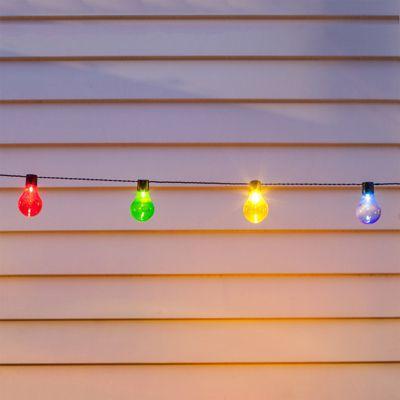 20 Multi Coloured LED Solar Festoon Party Lights